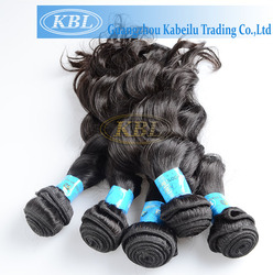 charming triple weft clip in hair extension brazilian loose wave hair