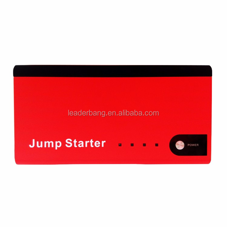 Innovative products 2017 portable red car jump starter 12V power bank 12000mah for emergency car