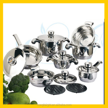 Wholesale 16pcs stainless steel induction base cookware
