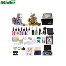 Midler Professional Complete Tattoo Kit 2 Top Machine Gun 7 Ink 20 Needle Power Supply