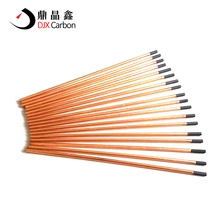 Flat arc air gouging carbon electrode rod