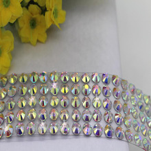 Hot Selling Clear Gem Rhinstone Sticker Strip/Self-adhesive Rhinestone Sticker For DIY Christmas