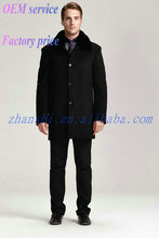 Latest Design Cheap Fashion Black korean style men coat