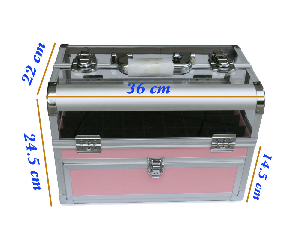 Professional Acrylic Tool Case with Adjustable polish carrying case