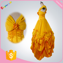 fancy dress ideas movie theme Adult Princess Belle Costume with petticoat