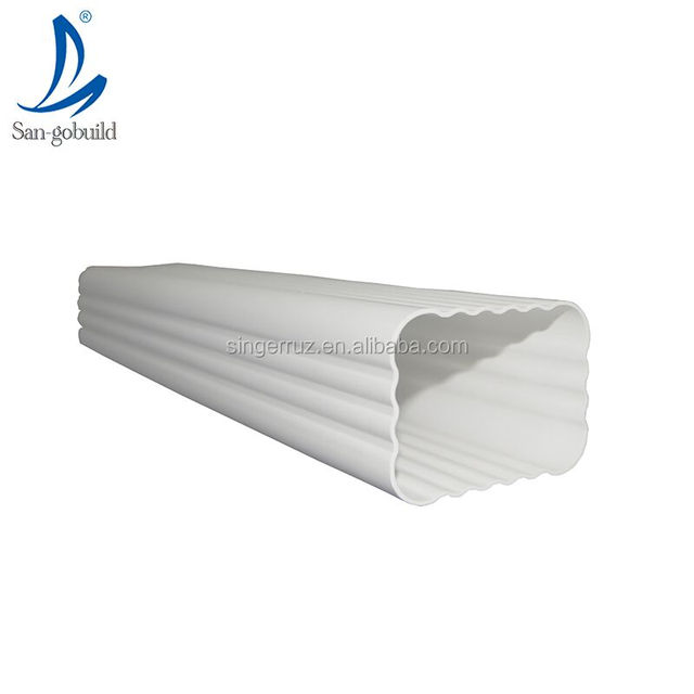 Alibaba China Manufacturer other plastic building material rainwater drain system PVC housing roof rain gutter