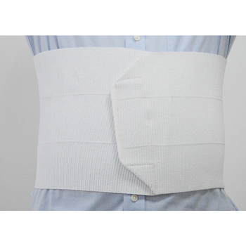 White color with hook and loop closure medical waist support