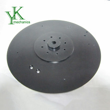 Black powder coating cnc machining parts, electroic motor spare parts, pipe flange