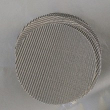 2 10 60 300 Microns Porous Stainless Steel 304 316L SS Wire Sintered Filter Mesh Disc