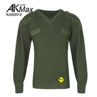 2015 New Olive Green Acrylic Men's Military Sweater Pullover Style