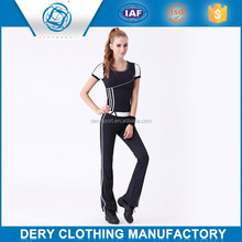 Professional lycra cotton yoga pants with soft spandex yarn