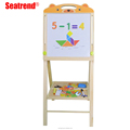 Double side writing/drawing board height adjustable wooden drawing board