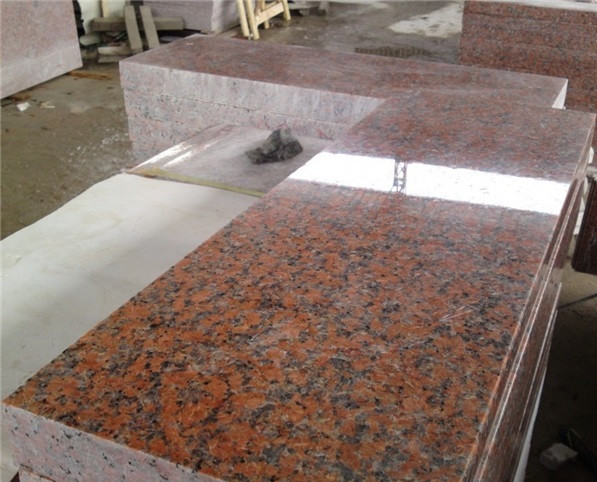 New maple red granite tiles artificial stone kitchen