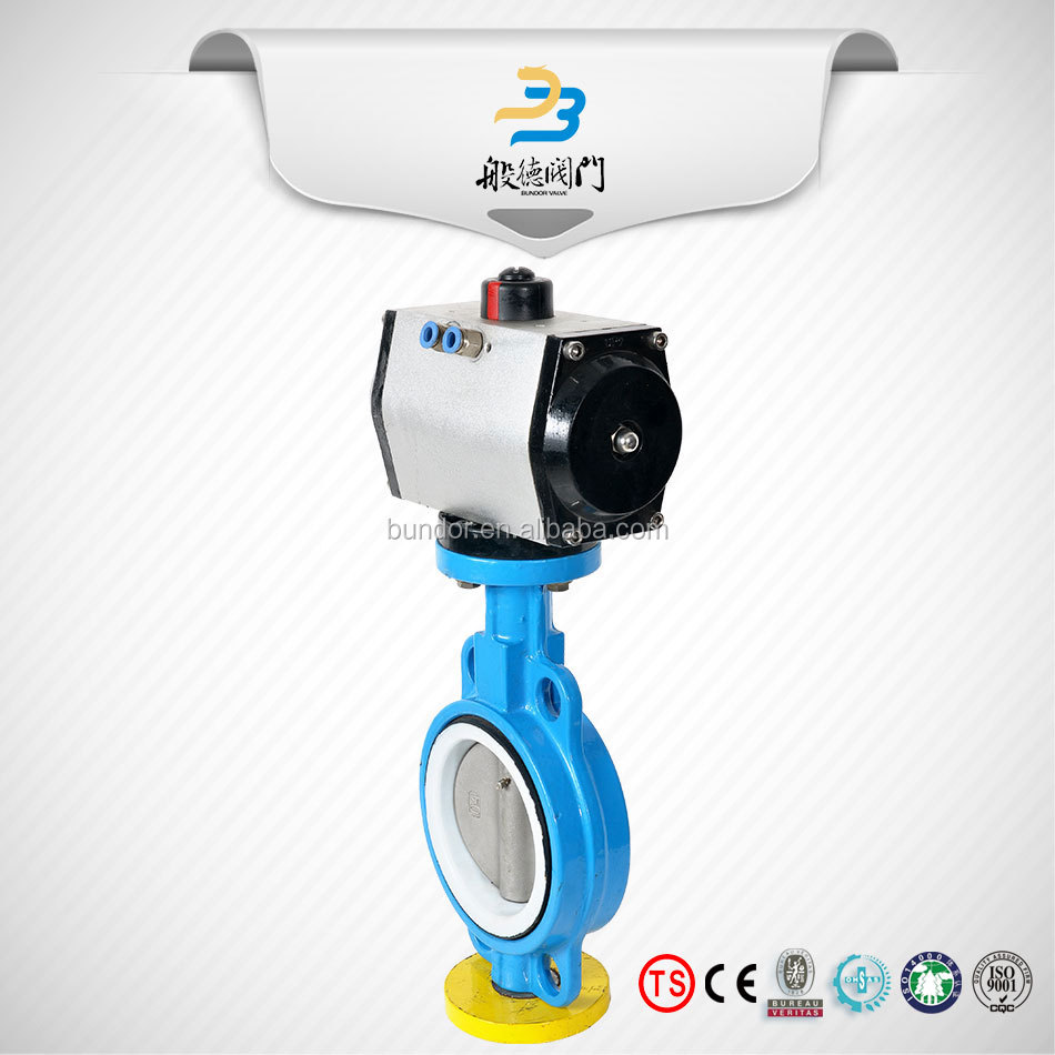Drip irrigation dn150 cast iron quick switch pneumatic operated butterfly valve