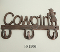 cast iron cowgirl hook