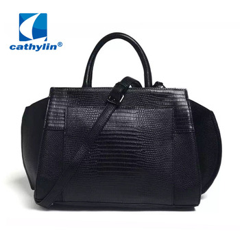 Cathylin 2016 New Arrival Design Good Quality Pu Leather Snake Leisure Women Hand Bag