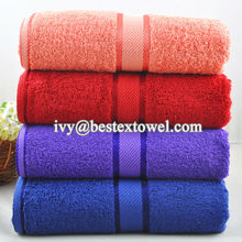 Deluxe Design your own Cotton fabric Bath towels made in china