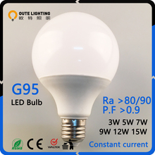 Energy Saving 3W 5W 7W 9W 12W 15W E27 G95 Led Home Bulb Lights