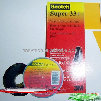 Pressure sensitive adhesive 33+ vinyl electrical tape /3M brand supper 33+ vinyl tape