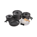 Camping Hiking Cooking Black non-stick cookware set