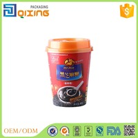 Hollow effect hot drink paper packing cup with lid 440ml