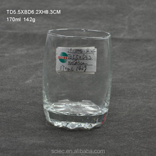 wholesale clear glass round shape drinking glass beer cup