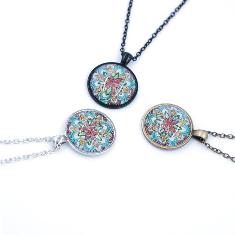 Multicolour Rainbow Jewelry Acrylic Flower Nceklace