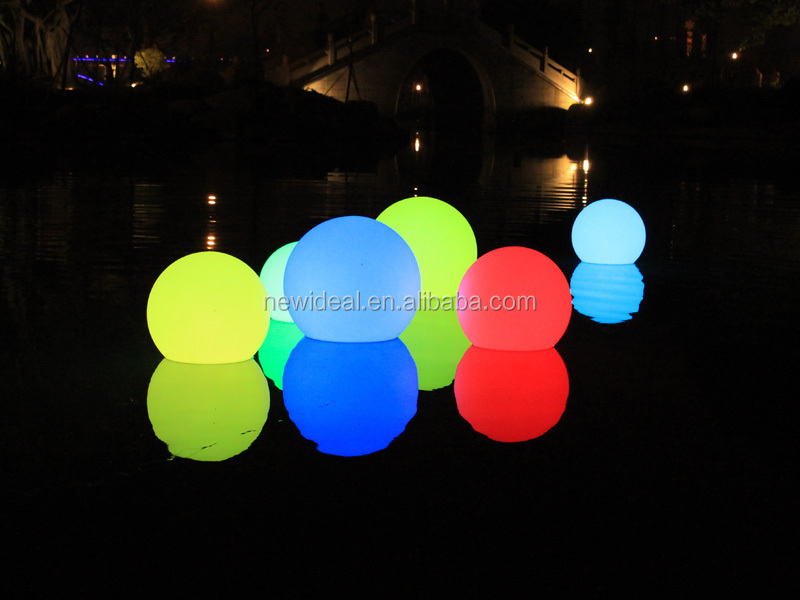 Waterproof IP68 swimming pool floating led ball light (NJ1539)