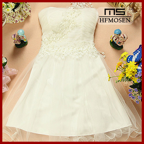 N7029 New Fashion Sleeveless Backless Lace Bridesmaid Dress