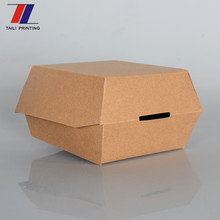Food gradepaper hamburger packaging disposable burger box