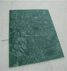 Factory Supply Polished Big Flower Green Marble Slab For Sale