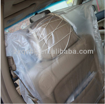 ZhiXia brand ,plastic & sponge, soft, smooth, comfortable clear plastic car seat covers with low price