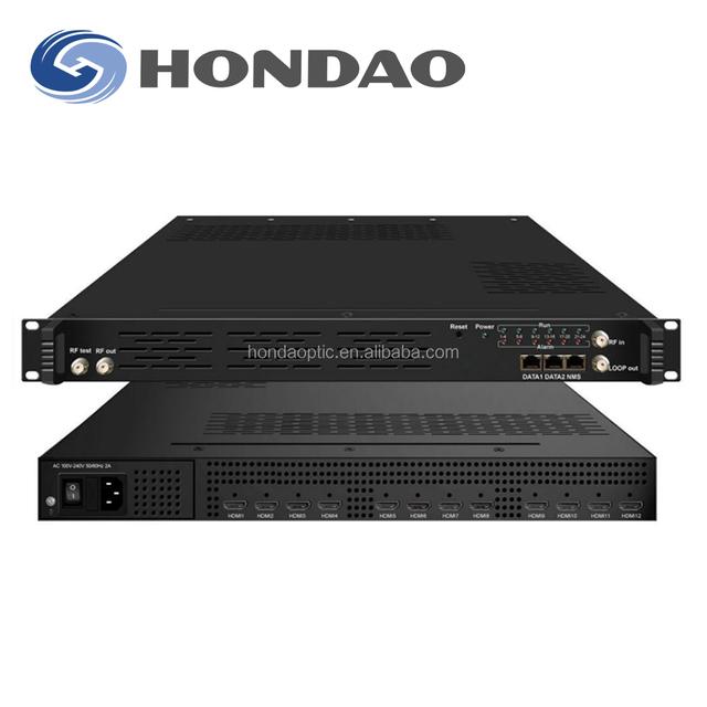 Hondao 1080P H.264 24 channel hd encoder in 1 dvb-c dvb t2 hd encoder mpeg4 video encoding for hotel iptv solution
