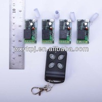 Wireless 4ch transmitter receiver Relay 315mhz 433mhz tv remote radio control switch learning code
