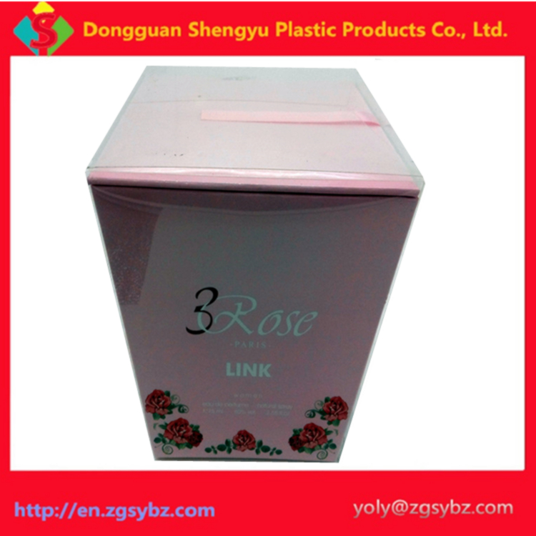 Luxury clear plastic packaging boxes for unique gift