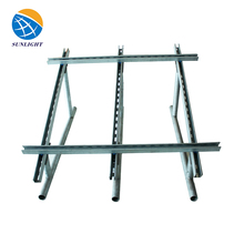 Galvanized Used In Different Terrain Solar Carport Mounting Brackets