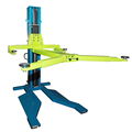 heavy duty frame and base plate single post parking lift
