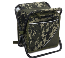 New concept fishing stool cooler bag backpack for picnic
