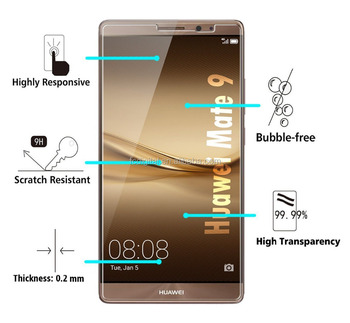 Anti-Scratch 9H 2.5d Tempered glass screen protector for huawei mate 9 pro with factory price