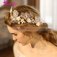 Fairy Gentle Garden Wedding Princess Hair Accessory Flower Clips With Freshwater Pearl