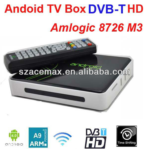 Android 4.0 3d android tv box with DVB-T, Build in WIFI ARM Cortex A9, Web Browser,PVR, XBMC