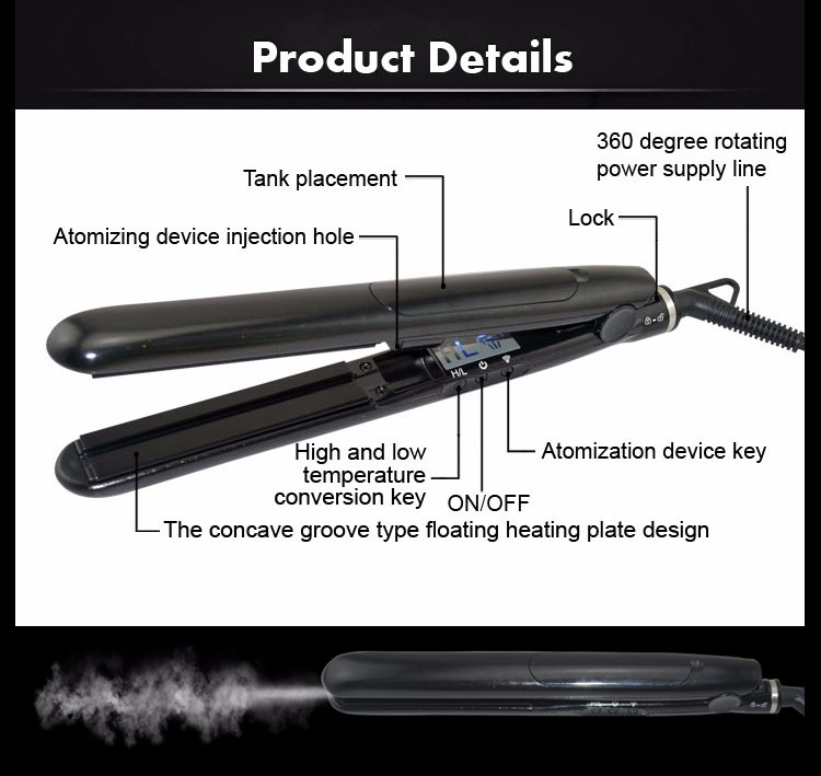 professional Japanese led display anion wholesale factory hairstyle flat iron