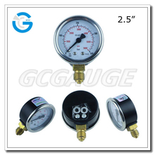 High quality 2.5inch 400BAR gas pressure gauge manometer