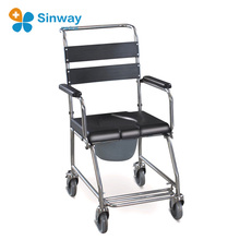 Hot selling Portable Stainless Steel Mobile Shower Commode Chair