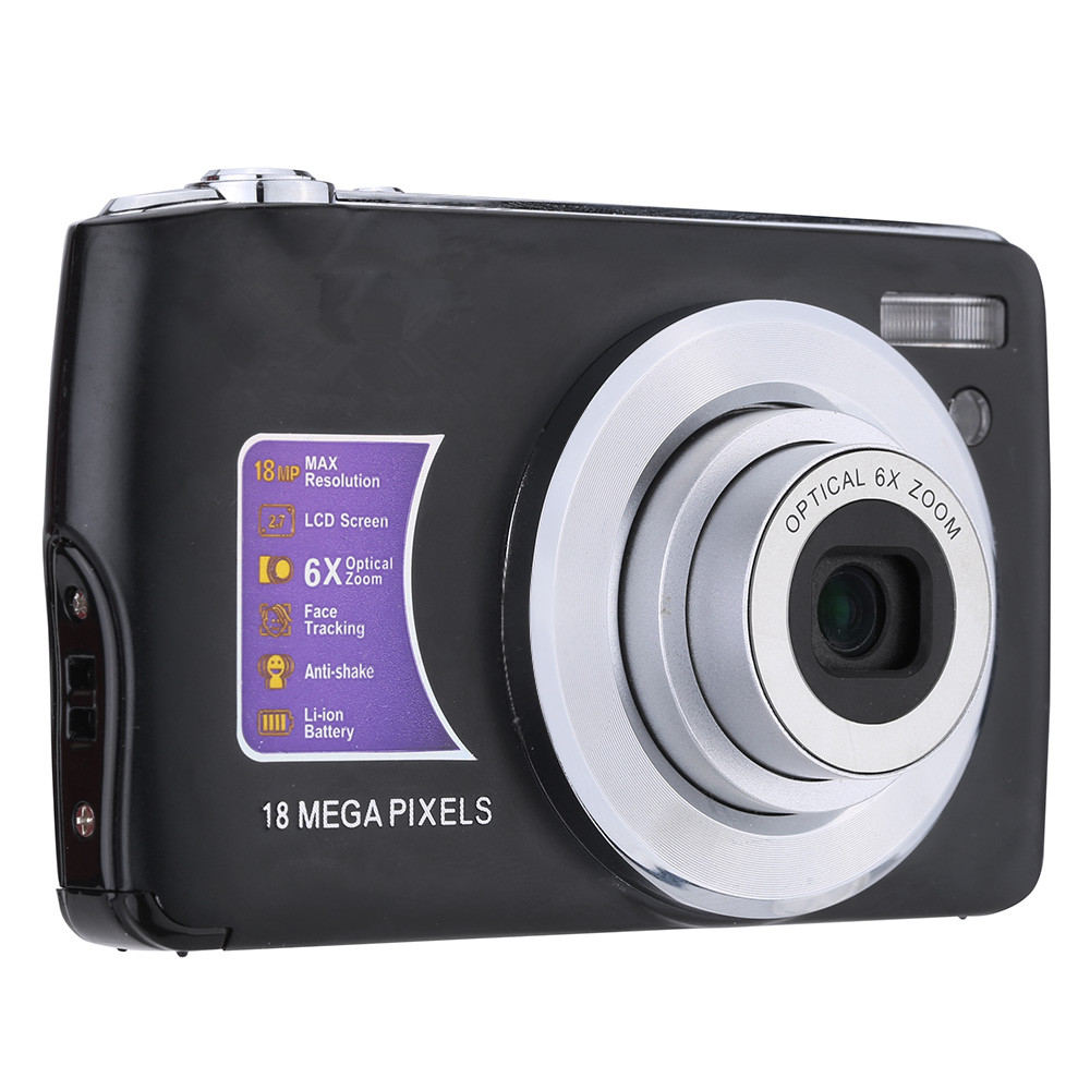 Stock Promotion Cheap Price Digital Camera Gift Digital Camera OEM Service 18MP 720P Video and 6X Optical Zoom