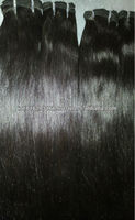 Factory Price double Weft Human Hair Bundles Full Cuticle 7A Virgin Raw Indian Hair