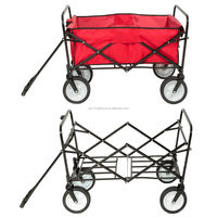 Folding Collapsible Utility Wagon Garden Cart Shopping Buggy Yard Beach Blue Red