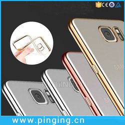Bulk Buy From China For Samsung Note 7 Silicone Cover,Electroplate Soft Transparent TPU Case For Galaxy Note 7