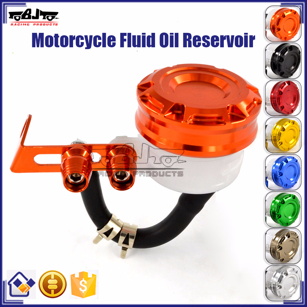 BJ-OC-019 Customize CNC Billet Orange Motorcycle Spare Parts Brake Fluid Reservoir for Aprilia
