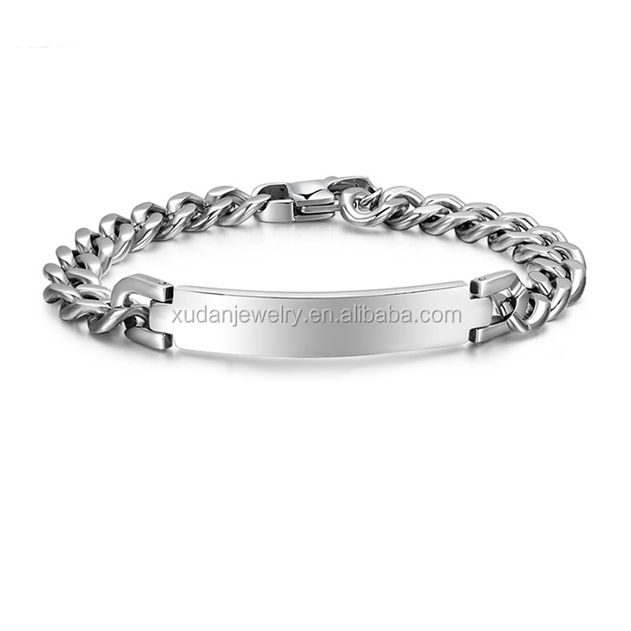 2017 China Factory 316L Surgical Stainless Steel Jewelry, Bracelet Hand Chain For Men,Handmade Mens Bracelet Bangle